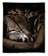 The Ocelot Fleece Blanket