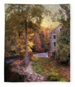 The Old Stone Mill Fleece Blanket
