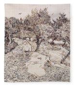 The Olive Trees Fleece Blanket