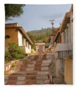 The Path To The Temple Fleece Blanket