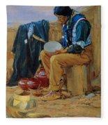 The Pottery Maker Fleece Blanket