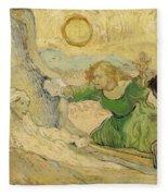 The Raising Of Lazarus Fleece Blanket