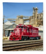 The Red Locomotive Fleece Blanket