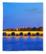 The Roman Bridge In Cordoba Fleece Blanket