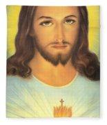 The Sacred Heart Of Jesus Fleece Blanket
