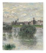 The Seine At Lavacourt Fleece Blanket