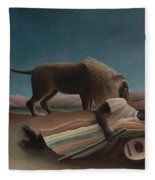 The Sleeping Gypsy Fleece Blanket