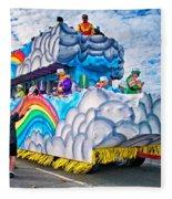 The Spirit Of Mardi Gras Fleece Blanket
