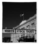 The Stock Yards Of Fort Worth Fleece Blanket