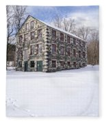 The Stone Mill At The Enfield Shaker Museum Fleece Blanket