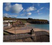 The Strand Inn And Dunmore Strand Fleece Blanket