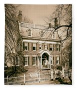 The Taft House - Brown University 1958 Fleece Blanket