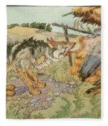 The Three Little Pigs Fleece Blanket