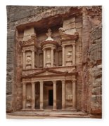 the treasury Nabataean ancient town Petra Fleece Blanket