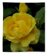 Yellow  Rose Of Summer Fleece Blanket
