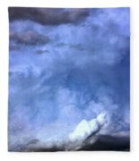 There Be A Storm A Brewin In Nebraska Fleece Blanket