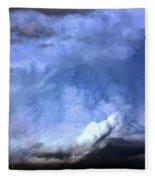 There Be A Storm A Brewin In Nebraska Fleece Blanket