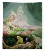 There Sleeps Titania Fleece Blanket