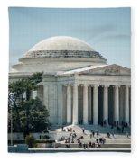 Thomas Jefferson Memorial In Washington Dc Usa Fleece Blanket