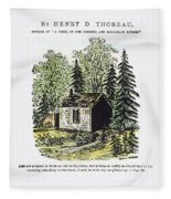 Thoreau Walden, 1875 Fleece Blanket