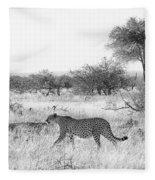 Three Cheetahs At Mashatu Fleece Blanket