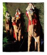 Three Wise Men Fleece Blanket