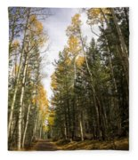 A Path Through The Woods  Fleece Blanket