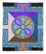 Tibetan Mandala Fleece Blanket