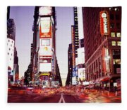 Times Square, Nyc, New York City, New Fleece Blanket