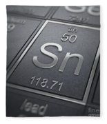 Tin Chemical Element Fleece Blanket