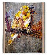 Tired Bird Fleece Blanket