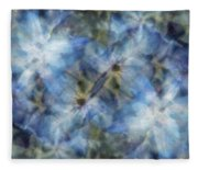 Tissue Paper Blues Fleece Blanket