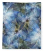 Tissue Paper Blues Fleece Blanket