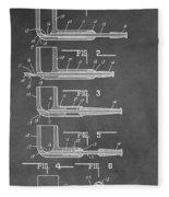 Tobacco Pipe Patent Fleece Blanket