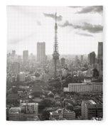 Tokyo Tower Square Fleece Blanket