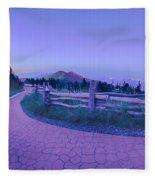 Top Of Mount Mitchell After Sunset Fleece Blanket