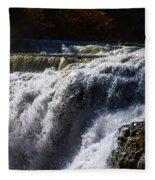 top of the Falls Fleece Blanket