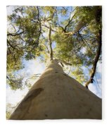 Towering Tree Trunk Fleece Blanket