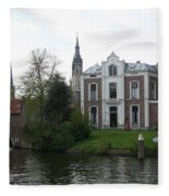 Town Canal - Delft Fleece Blanket
