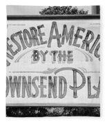 Townsend Plan, 1939 Fleece Blanket