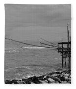 Trabocco On The Coast Of Italy  Fleece Blanket