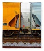Train Cars 2 Fleece Blanket