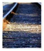 Train Tacks Fleece Blanket