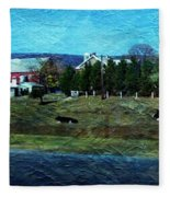Travel As A Painting Fleece Blanket