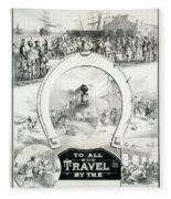 Travel Poster, C1882 Fleece Blanket