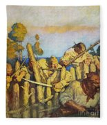 Treasure Island, 1911 Fleece Blanket