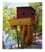Tree House Boat Fleece Blanket
