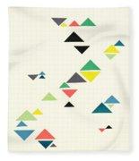 Triangles Fleece Blanket