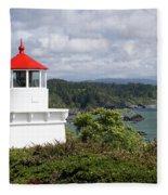 Trinidad Head Light House On The Coast Fleece Blanket