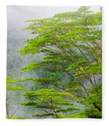Tropical Forest, Seychelles Fleece Blanket